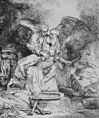 Abraham's Sacrifice Poster by Rembrandt