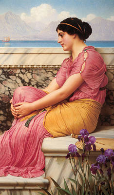 Absence Makes The Heart Grow Fonder Poster by John William Godward