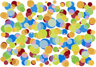 Abstract Color Poster by Frank Tschakert