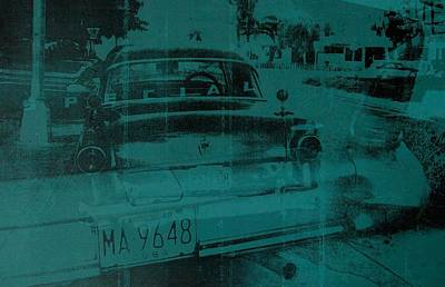 Abstract Green Car Poster by David Studwell