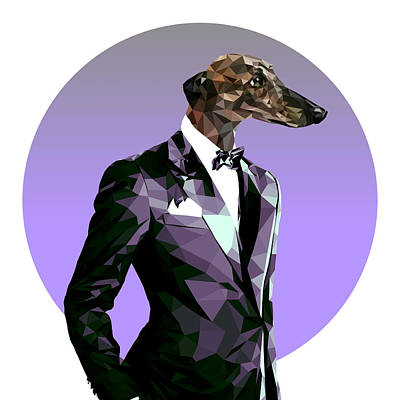 Abstract Greyhound 2 Poster by Filip Aleksandrov