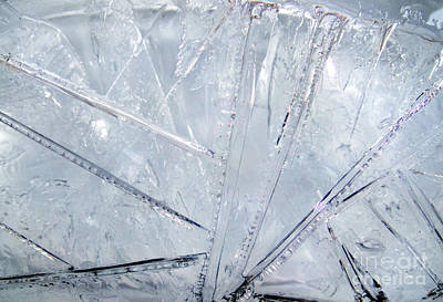 Abstract Ice. Morning Poster by Sofia Goldberg
