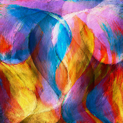 Abstract In Aqua Poster by Brenda Bryant