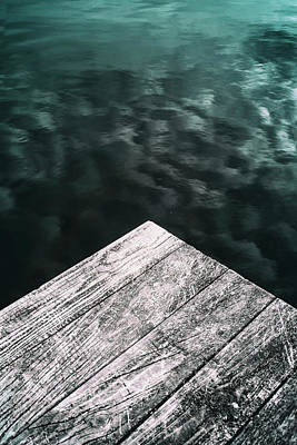 Abstract Lake Poster by Russ Dixon