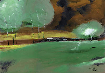 Abstract Landscape Poster by Anil Nene