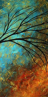 Abstract Landscape Art Passing Beauty 4 Of 5 Poster by Megan Duncanson
