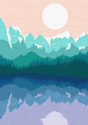 Abstract Landscape Lake Tahoe 3 Poster by Diana Van