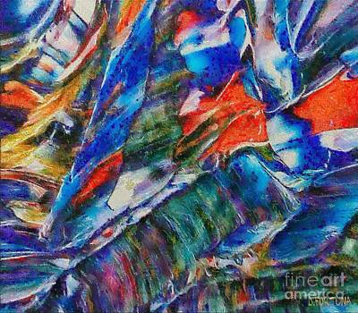 abstract mountains II Poster by Dragica  Micki Fortuna