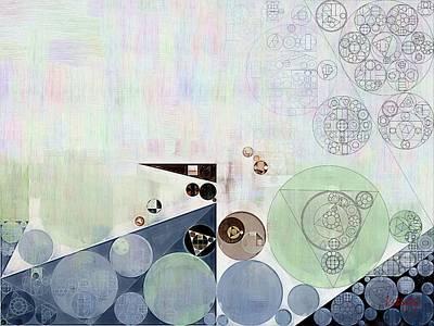 Abstract Painting - Athens Grey Poster by Vitaliy Gladkiy