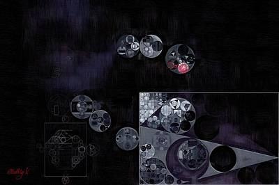 Abstract Painting - Black Poster by Vitaliy Gladkiy