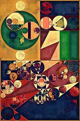 Abstract Painting - Cherokee Poster by Vitaliy Gladkiy