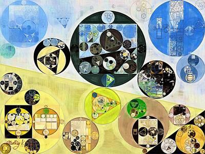 Abstract Painting - Cinder Poster by Vitaliy Gladkiy