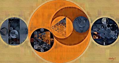Abstract Painting - Cinnamon Poster by Vitaliy Gladkiy