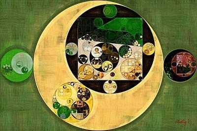 Abstract Painting - Dark Olive Green Poster by Vitaliy Gladkiy