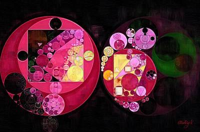 Abstract Painting - Deep Carmine Poster by Vitaliy Gladkiy