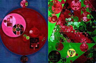 Abstract Painting - Fun Green Poster by Vitaliy Gladkiy