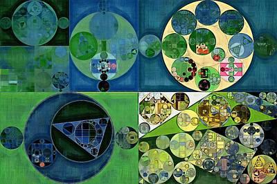 Abstract Painting - Medium Jungle Green Poster by Vitaliy Gladkiy