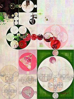 Abstract Painting - Old Rose Poster by Vitaliy Gladkiy