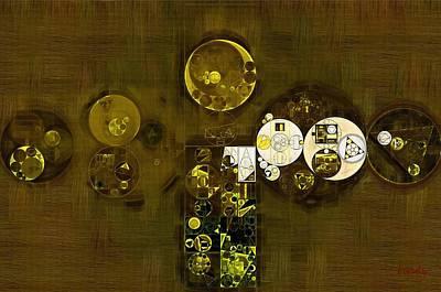 Abstract Painting - Primrose Poster by Vitaliy Gladkiy