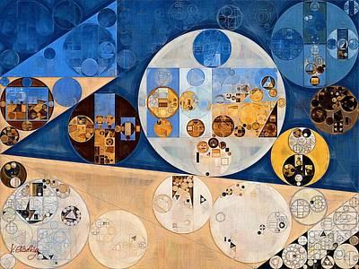 Abstract Painting - Stark White Poster by Vitaliy Gladkiy