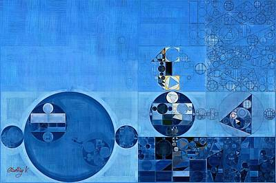 Abstract Painting - Tufts Blue Poster by Vitaliy Gladkiy