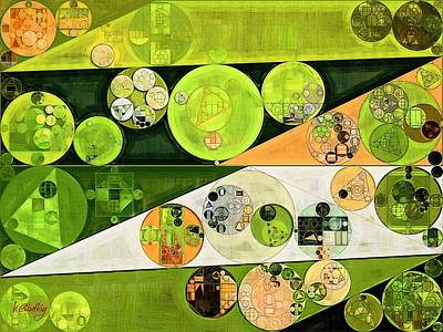Abstract Painting - Turtle Green Poster by Vitaliy Gladkiy