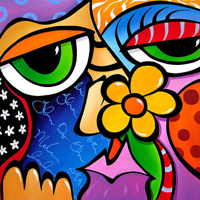 Abstract Pop Art Original Painting Scratch N Sniff By Fidostudio Poster by Tom Fedro - Fidostudio