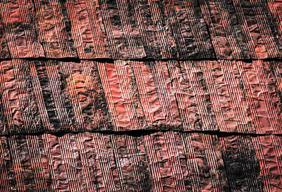 Abstract Rusty Metal Sheet Roofing Poster by Jozef Jankola