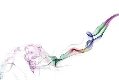 Abstract Smoke Poster by Setsiri Silapasuwanchai