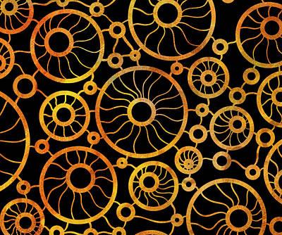 Abstract Sunflower Field Poster by Frank Tschakert