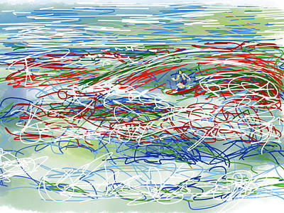 Abstract Surfer 42 Poster by Robert Yaeger