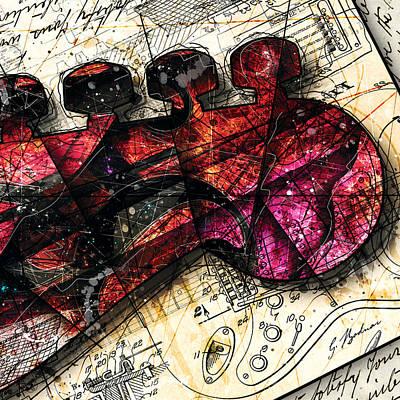 Abstracta_20 Fender Strat Poster by Gary Bodnar
