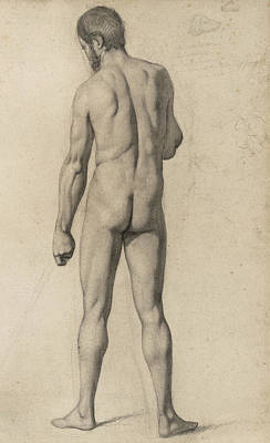 Academic Nude Poster by Paul Cezanne