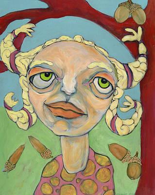 Acorns Poster by Michelle Spiziri