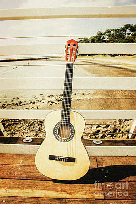 Acoustic Guitar Still Life Art Poster by Jorgo Photography - Wall Art Gallery
