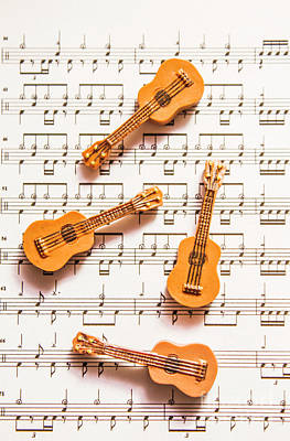 Acoustic Quartet Poster by Jorgo Photography - Wall Art Gallery