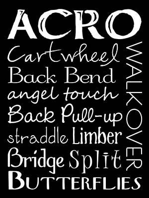 Acro Dance Subway Art Poster Poster by Jaime Friedman