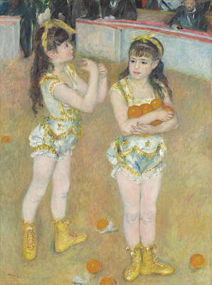 Acrobats At The Cirque Fernando Poster by Auguste Renoir