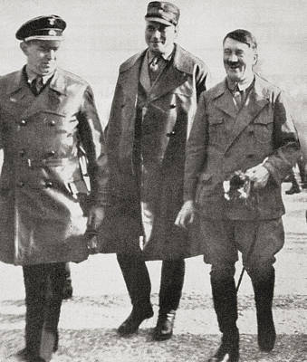 Adolf Hitler With Wilhelm Br Poster by Vintage Design Pics