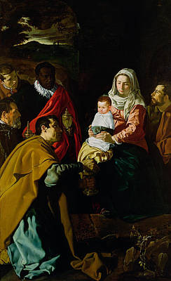 Adoration Of The Kings Poster by Diego rodriguez de silva y Velazquez