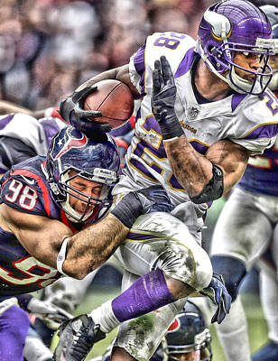 Adrian Peterson Art 3 Poster by Joe Hamilton