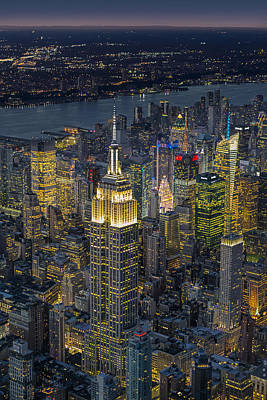 Aerial View Of The Empire State Building Poster by Susan Candelario