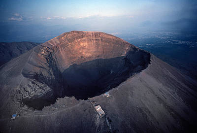 Aerial View Over Mount Vesuvius Reveals Poster by O. Louis Mazzatenta