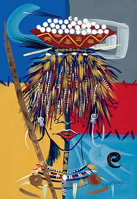 African Beauty 2 Poster by Oglafa Ebitari Perrin