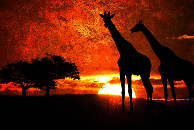 African Safari Poster by Richard Farrington