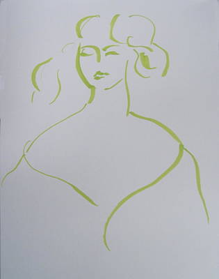 Angelo Asti Portrait Of A Young Woman Revisited Poster by Rob Prince