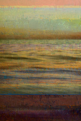 After The Sunset - Teal Sky Poster by Michelle Calkins