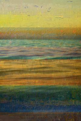 After The Sunset - Yellow Sky Poster by Michelle Calkins