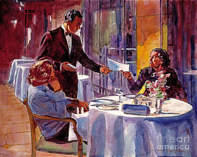 Afternoon At The Dorchester Poster by David Lloyd Glover