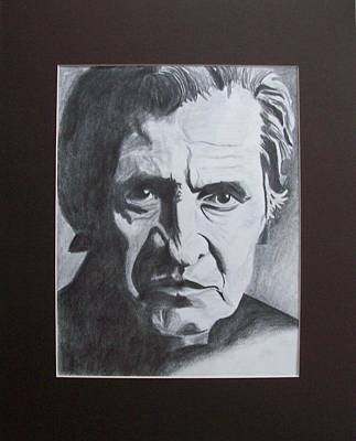 Aging Johnny Cash Poster by Mikayla Ziegler